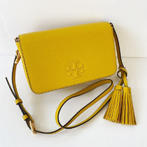 Tory Burch Plain Leather Crossbody Shoulder Bags