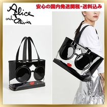 Alice+Olivia Crystal Clear Bags PVC Clothing Totes