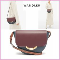 WANDLER Casual Style Leather Elegant Style Shoulder Bags
