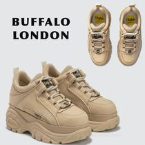 Buffalo LONDON Rubber Sole Casual Style Plain Low-Top Sneakers