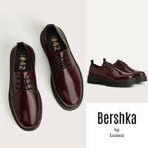 Bershka Faux Fur Plain Oxfords