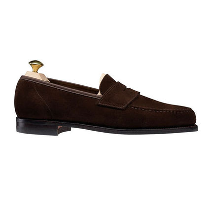 Loafers Suede Plain U Tips Loafers & Slip-ons