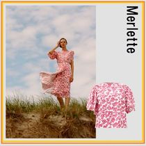 merlette Cotton Short Sleeves Puff Sleeves Shirts & Blouses