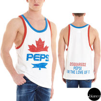 D SQUARED2 Street Style Collaboration Cotton Tanks