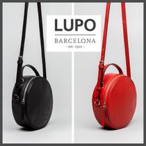 Lupo Barcelona Casual Style Plain Leather Elegant Style Shoulder Bags