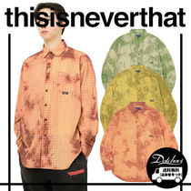 thisisneverthat Casual Style Unisex Street Style Tie-dye Long Sleeves Cotton