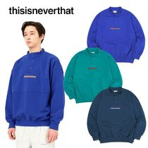 thisisneverthat Street Style Long Sleeves Plain Tops