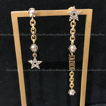 Christian Dior JADIOR Star Chain Party Style Elegant Style Earrings