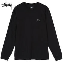 STUSSY Crew Neck Street Style Long Sleeves Long Sleeve T-shirt