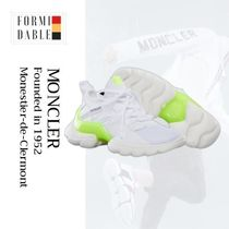 MONCLER Casual Style Plain Leather Low-Top Sneakers