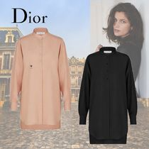 Christian Dior Casual Style Silk Long Sleeves Elegant Style