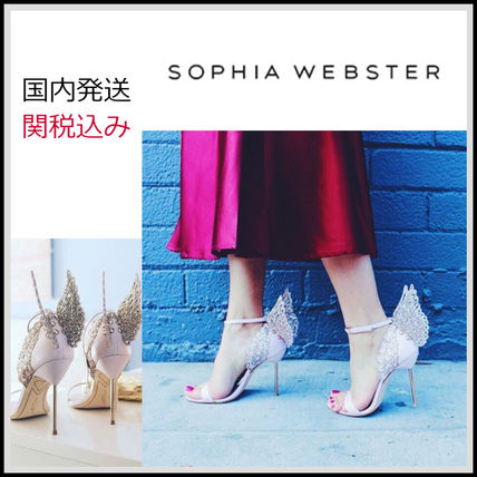Open Toe Plain Leather Pin Heels Party Style Elegant Style