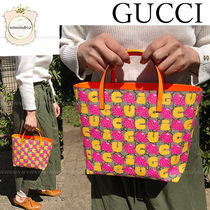 GUCCI Canvas Other Animal Patterns Elegant Style Totes