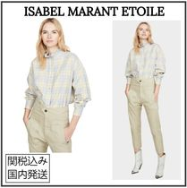 ISABEL MARANT ETOILE Other Check Patterns Casual Style Long Sleeves Cotton