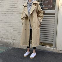 Casual Style Blended Fabrics Street Style Plain Long