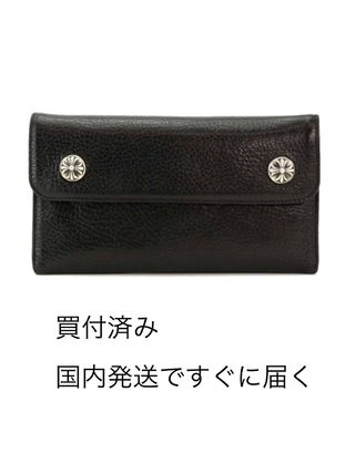 CHROME HEARTS CH CROSS Unisex Leather Long Wallet  Long Wallets