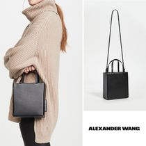 Alexander Wang Casual Style Calfskin 2WAY Plain Leather Party Style