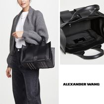 Alexander Wang Casual Style Calfskin Plain Leather Party Style Office Style