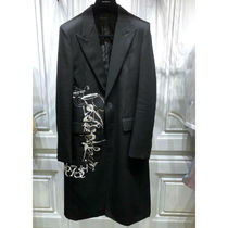 GIVENCHY Street Style Plain Long Chester Coats