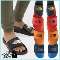 THE NORTH FACE Street Style Bi-color Plain Shower Shoes Flipflop Logo