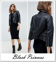 ALLSAINTS Short Plain Leather Biker Jackets