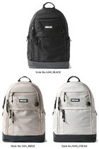 bubilian Unisex Studded Street Style Plain Logo Backpacks