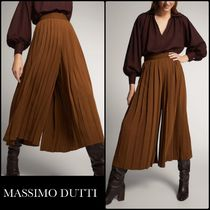 Massimo Dutti Casual Style Plain Medium Office Style Culottes