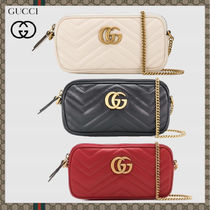 GUCCI GG Marmont Casual Style Street Style 2WAY Leather Party Style