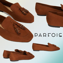 PARFOIS Faux Fur Plain Loafer & Moccasin Shoes