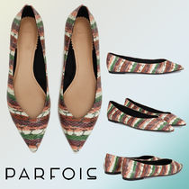 PARFOIS Faux Fur Python Ballet Shoes