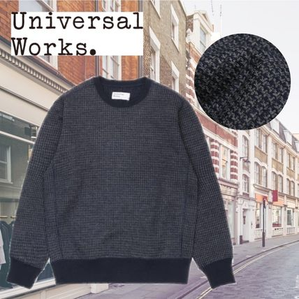 Crew Neck Pullovers Zigzag Wool Long Sleeves Oversized