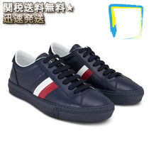 MONCLER Stripes Street Style Plain Leather Sneakers