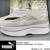 PUMA Platform Rubber Sole Casual Style Suede Street Style Plain