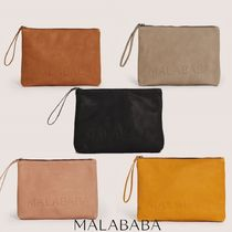 Malababa Casual Style Plain Elegant Style Clutches