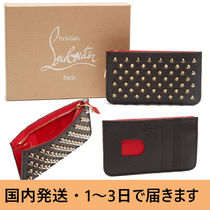 Christian Louboutin Calfskin Studded Card Holders