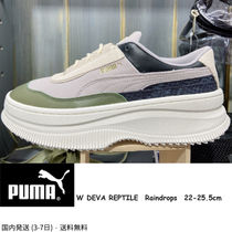 PUMA Platform Rubber Sole Casual Style Street Style Plain