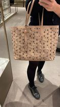 Jimmy Choo Star Unisex Calfskin Studded A4 2WAY Leather Logo Totes