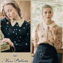 Miss Patina Dots Casual Style Long Sleeves Medium Office Style