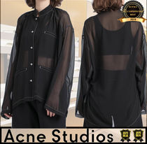 Acne Other Check Patterns Casual Style Unisex Street Style Plain