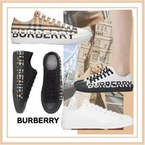 Burberry Rubber Sole Lace-up Casual Style Street Style Plain