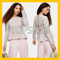 TOPSHOP Gingham Other Check Patterns Casual Style Blended Fabrics