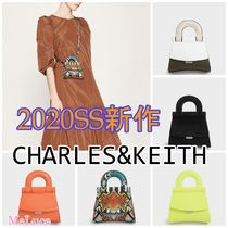 Charles&Keith Casual Style Faux Fur 2WAY Plain Party Style Python