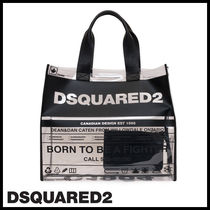 D SQUARED2 Casual Style Street Style Totes