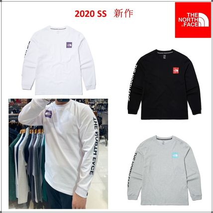 THE NORTH FACE Unisex Long Sleeves Logos on the Sleeves Long Sleeve T-shirt