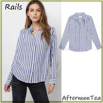 Rails Stripes Long Sleeves Medium Handmade Shirts & Blouses