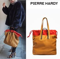 Pierre Hardy Casual Style Canvas Totes