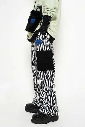 Slax Pants Printed Pants Street Style Logo Patterned Pants