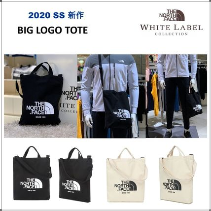THE NORTH FACE WHITE LABEL Unisex Canvas 2WAY Logo Totes