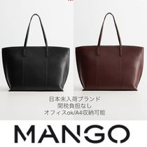 MANGO Casual Style A4 Plain Office Style Elegant Style Totes