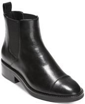 Cole Haan Round Toe Leather Flat Boots